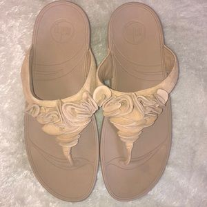 Fit-Flops tan suede leather upper sandals